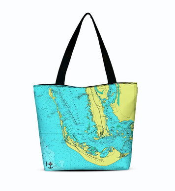 Sanibel Island Canvas Zip Tote