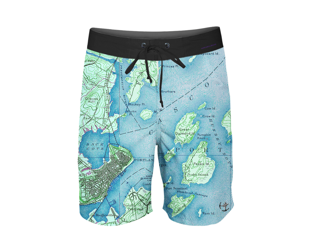 Portland Maine Men's Boardshorts