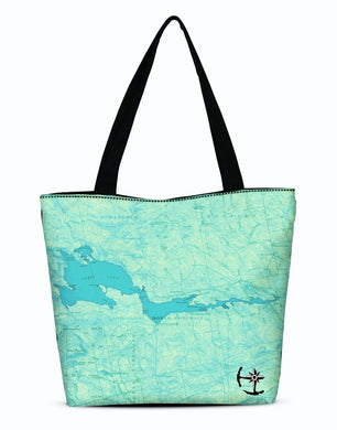 Sebec Lake Canvas Zip Tote