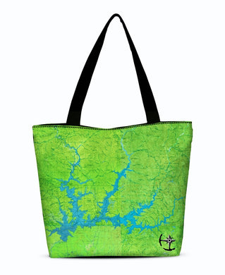 Shasta Lake Canvas Zip Tote