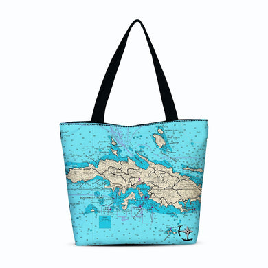 St. Thomas Canvas Zip Tote