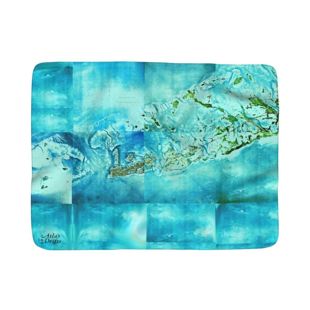Tropical Florida Keys Sherpa Fleece Blanket