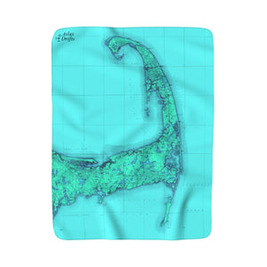Cape Cod Sherpa Fleece Blanket