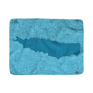 Oneida Lake Sherpa Fleece Blanket