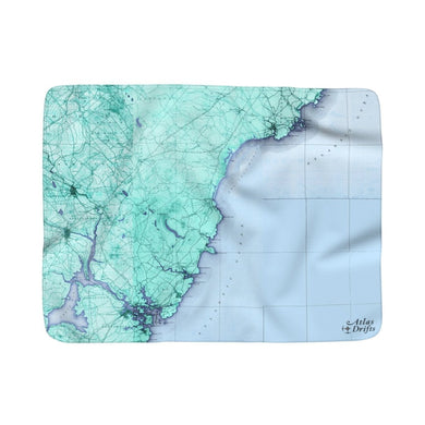 Ogunquit Sherpa Fleece Blanket