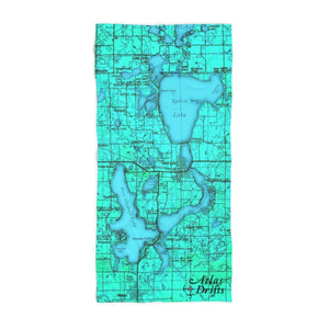 Iowa Great Lakes Beach Towel