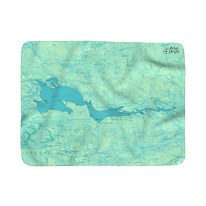 Sebec Lake Sherpa Fleece Blanket
