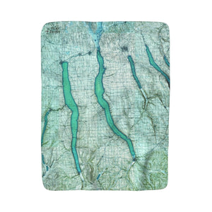 Cayuga Lake Sherpa Fleece Blanket
