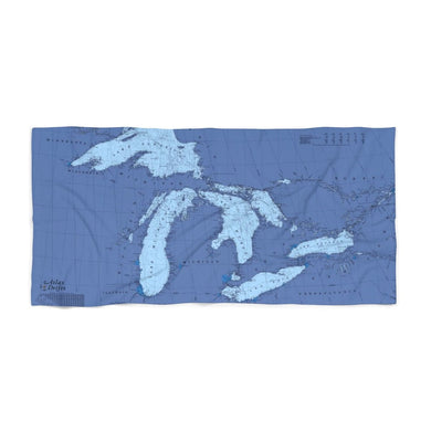 Great Lakes Beach Towel