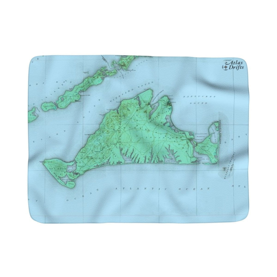 Martha's Vineyard Sherpa Fleece Blanket