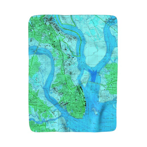 Charleston Sherpa Fleece Blanket
