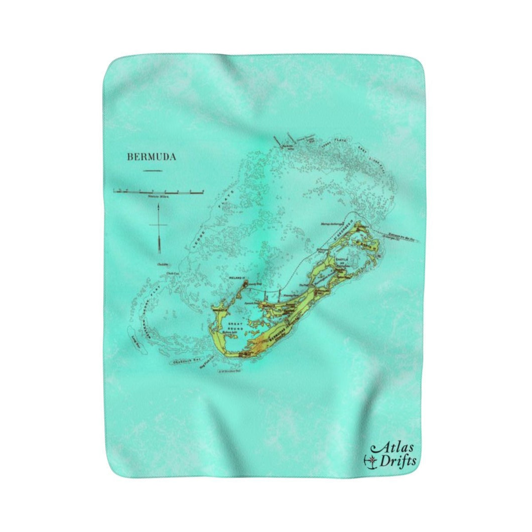 Bermuda Sherpa Fleece Blanket