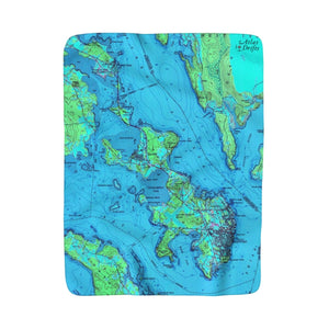 Eastport Sherpa Fleece Blanket