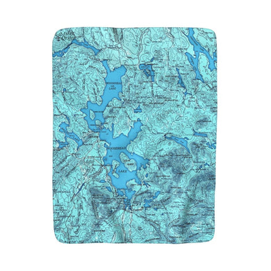 Moosehead Lake Sherpa Fleece Blanket