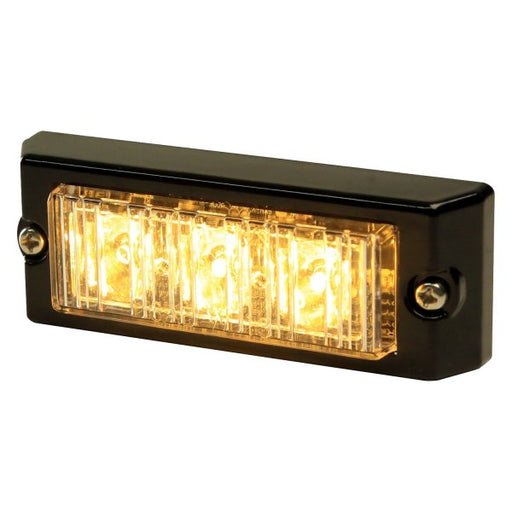 ECCO DIRECTIONAL, 3 LED, SURFACE MOUNT, 12-24VDC, AMBER