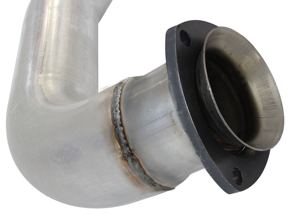 "AFE Power Atlas 4"" Aluminized Downpipe Back Single Exhaust System - Northwest Diesel"