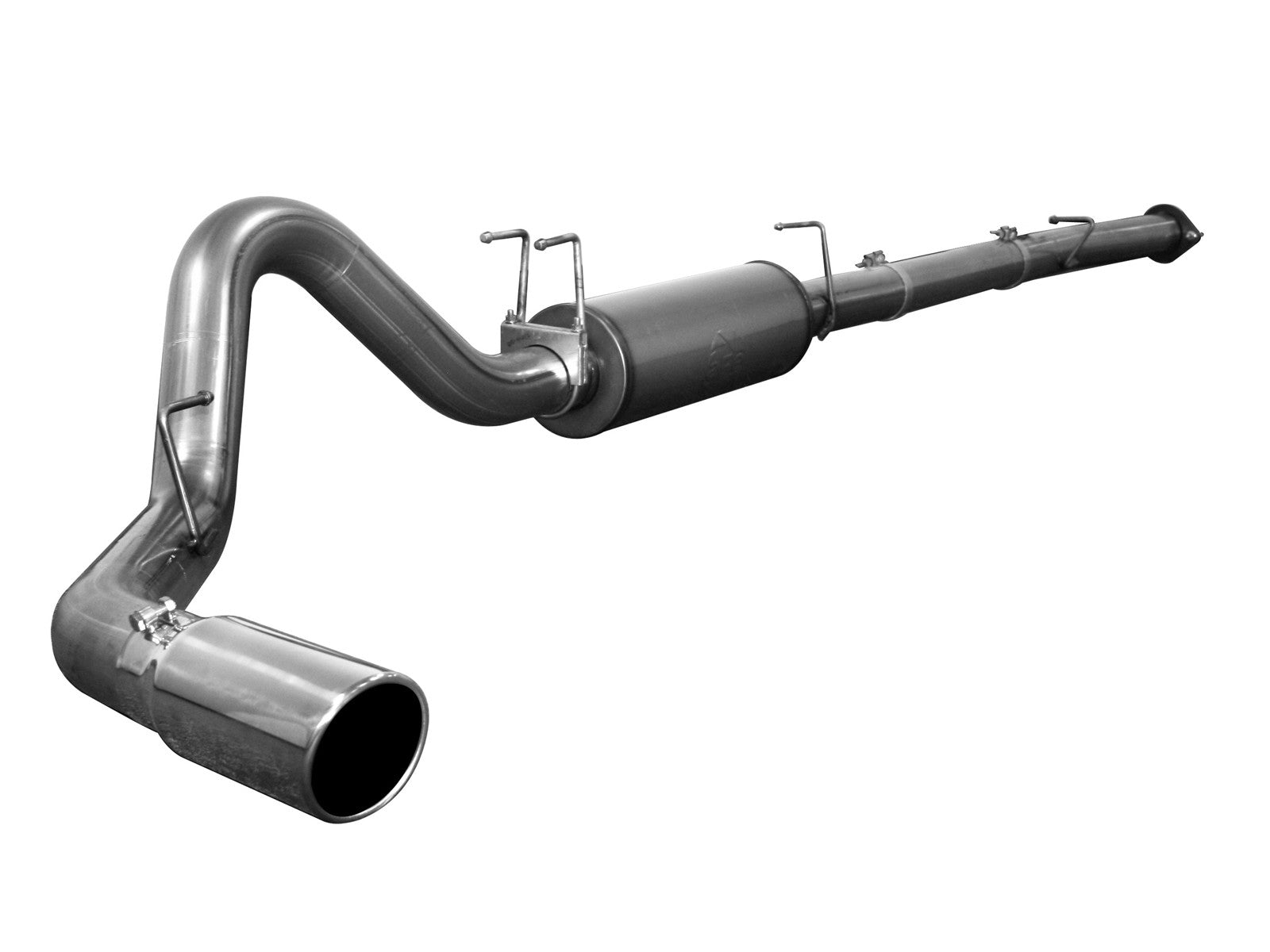 "AFE Power Large Bore-HD 4"" Downpipe Back Stainless Steel Exhaust System - Northwest Diesel"