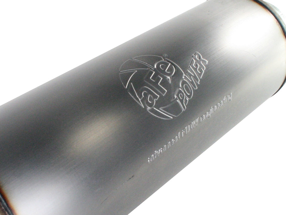 "AFE Power Large Bore-HD 4"" Turbo Back Stainless Steel Exhaust System With Muffler Delete - Northwest Diesel"
