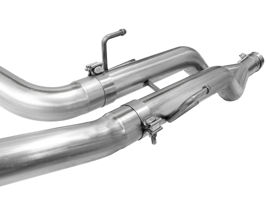 "AFE Power Large Bore-HD 3"" DPF Back Stainless Steel Dual Exhaust System - Northwest Diesel"