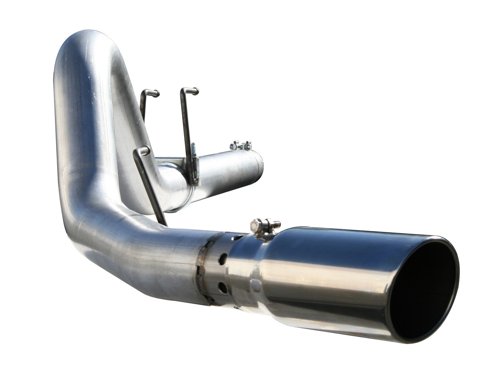 "AFE Power Large Bore-HD 4"" DPF Back Stainless Steel Exhaust System - Northwest Diesel"