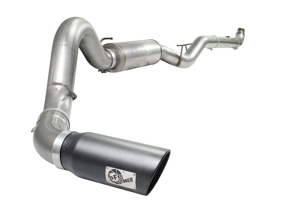 "AFE Power Large Bore-HD 5"" Downpipe Back Exhaust System - Northwest Diesel"