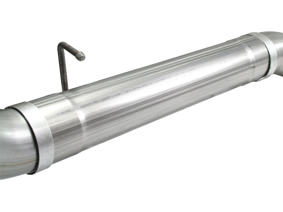 "AFE Power Large Bore-HD 5"" Downpipe Back Stainless Steel Exhaust System Without Muffler - Northwest Diesel"