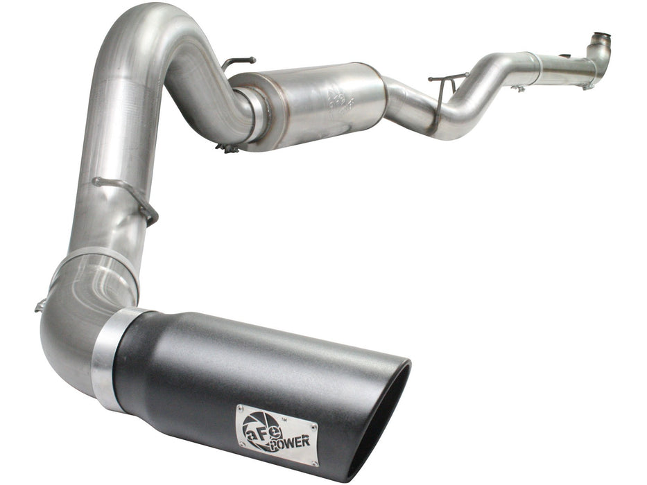 "AFE Power Large Bore-HD 5"" Downpipe Back Stainless Steel Exhaust System - Northwest Diesel"