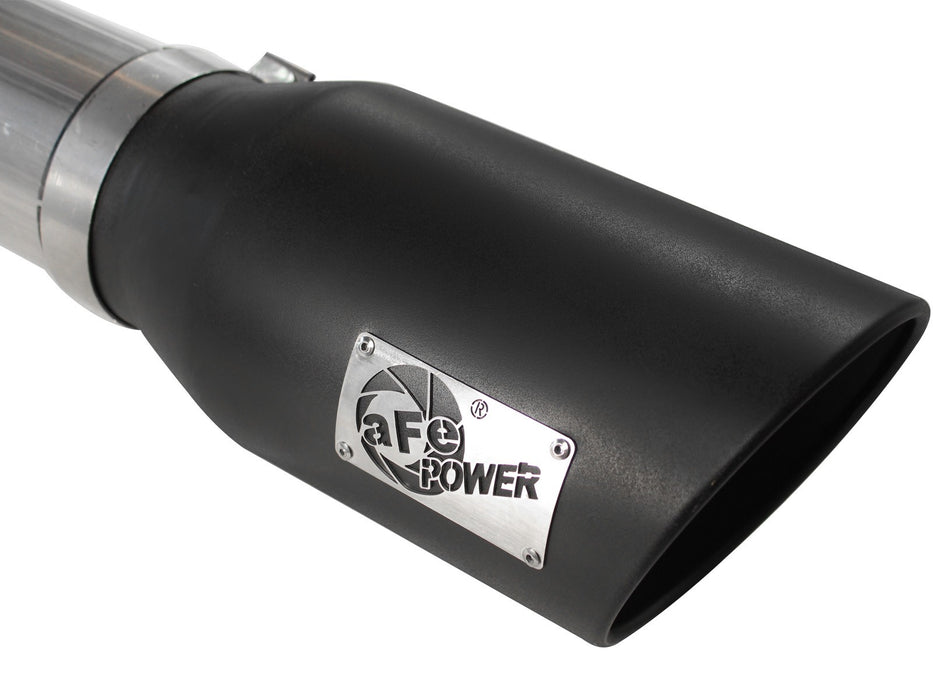 "AFE Power Large Bore-HD 5"" DPF Back Stainless Steel Exhaust System - Northwest Diesel"