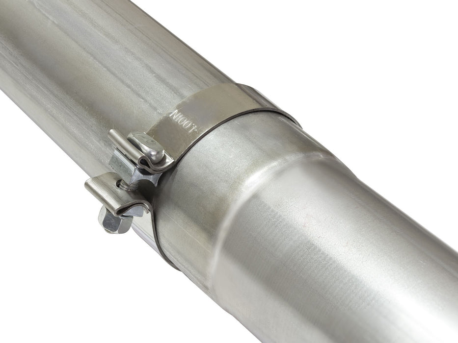 "AFE Power Large Bore-HD 4"" Stainless Steel Race Pipe - Northwest Diesel"