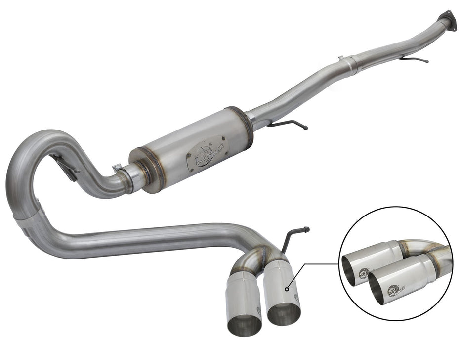 "AFE Power Rebel Series 3"" Middle-Side Exist Stainless Steel Downpipe Back Exhaust System - Northwest Diesel"