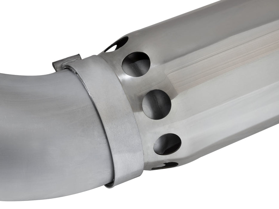 "AFE POWER Large Bore-HD 5"" Stainless Steel DPF-Back Exhaust System - Northwest Diesel"