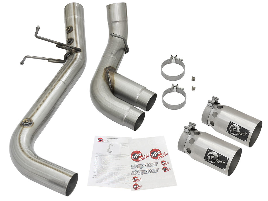 "AFE POWER Rebel XD Series 4"" Stainless Steel DPF-Back Exhaust System - Northwest Diesel"