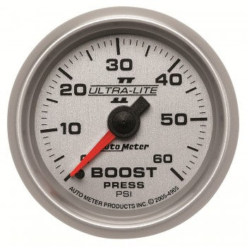 Auto Meter Mechanical Boost Gauge 0-60 PSI, Ultra-Lite - Northwest Diesel