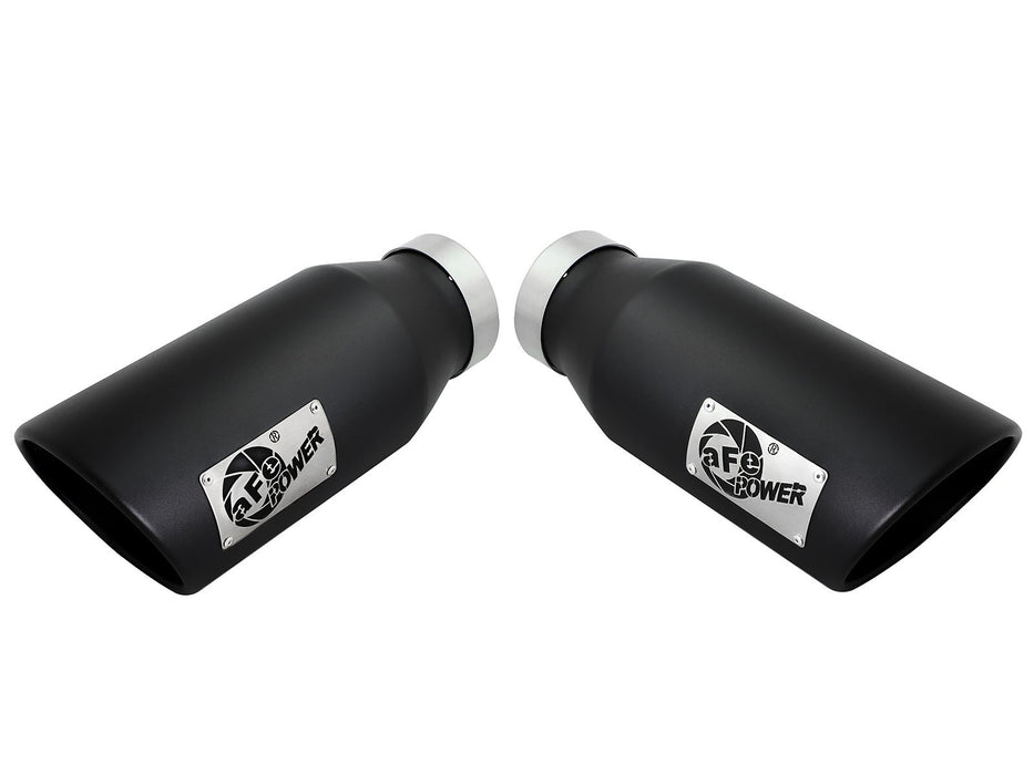 "AFE Power MACH Force-Xp 4"" Black Stainless Steel Exhaust Tip Set - Northwest Diesel"