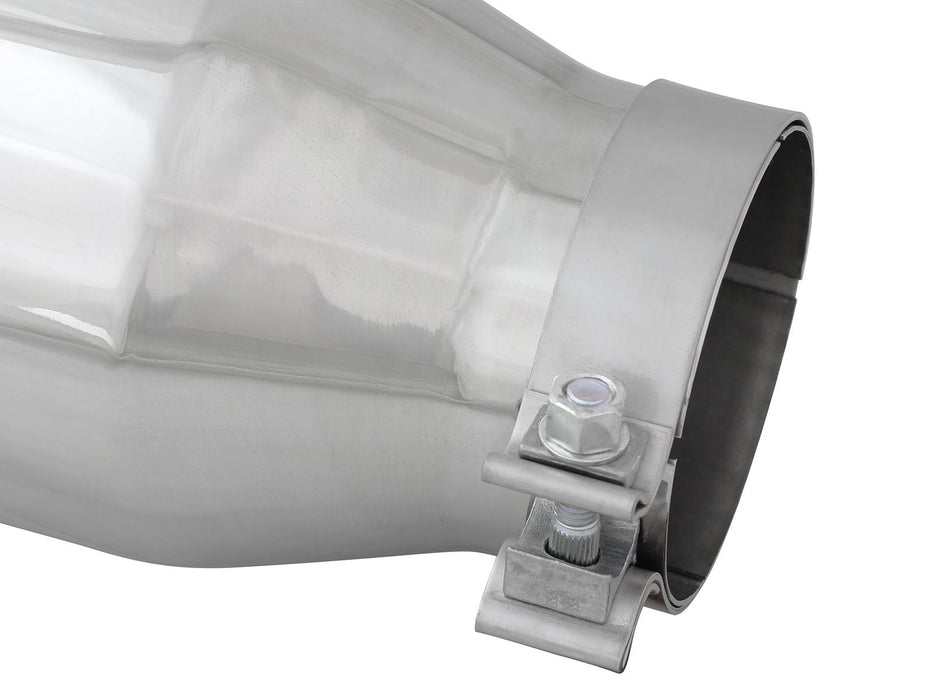 "AFE Power MACH Force-Xp 4"" Polished Stainless Steel Exhaust Tip Set - Northwest Diesel"