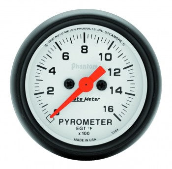 Auto Meter Digital Stepper Motor Pyrometer 0-1600 °F, Phantom Series - Northwest Diesel