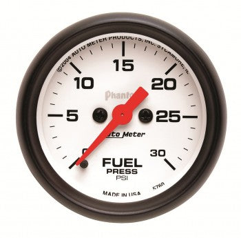 Auto Meter Digital Stepper Motor Fuel Pressure Gauge 0-30 PSI, Phantom Series - Northwest Diesel