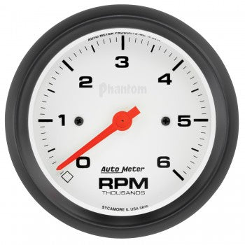 "Auto Meter 3-3/8"" In-Dash Tachometer, 0-6,000 RPM, Phantom Series - Northwest Diesel"