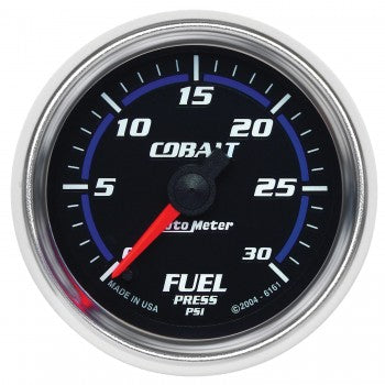 Auto Meter Digital Stepper Motor Fuel Pressure Gauge 0-30 PSI, Cobalt - Northwest Diesel