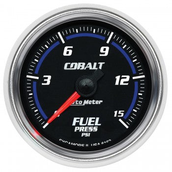 Auto Meter Digital Stepper Motor Fuel Pressure Gauge 0-15 PSI, Cobalt - Northwest Diesel