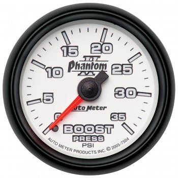 Auto Meter Mechanical Boost 0-35 PSI, Phantom II - Northwest Diesel