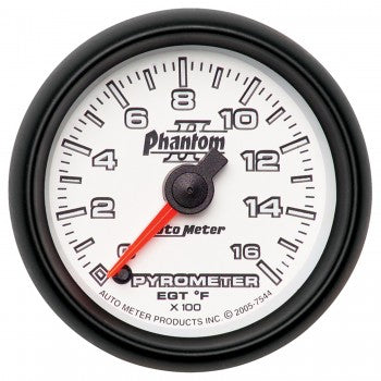 Auto Meter Digital Stepper Motor Pyrometer 0-1600 °F, Phantom II - Northwest Diesel