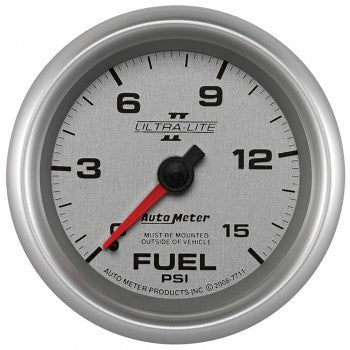 "Auto Meter 2-5/8"" Mechanical Fuel Pressure Gauge 0-15 PSI, Ultra-Lite II - Northwest Diesel"