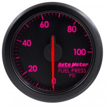 Auto Meter Black Fuel Pressure Gauge 0-100 PSI, AirDrive Series - Northwest Diesel