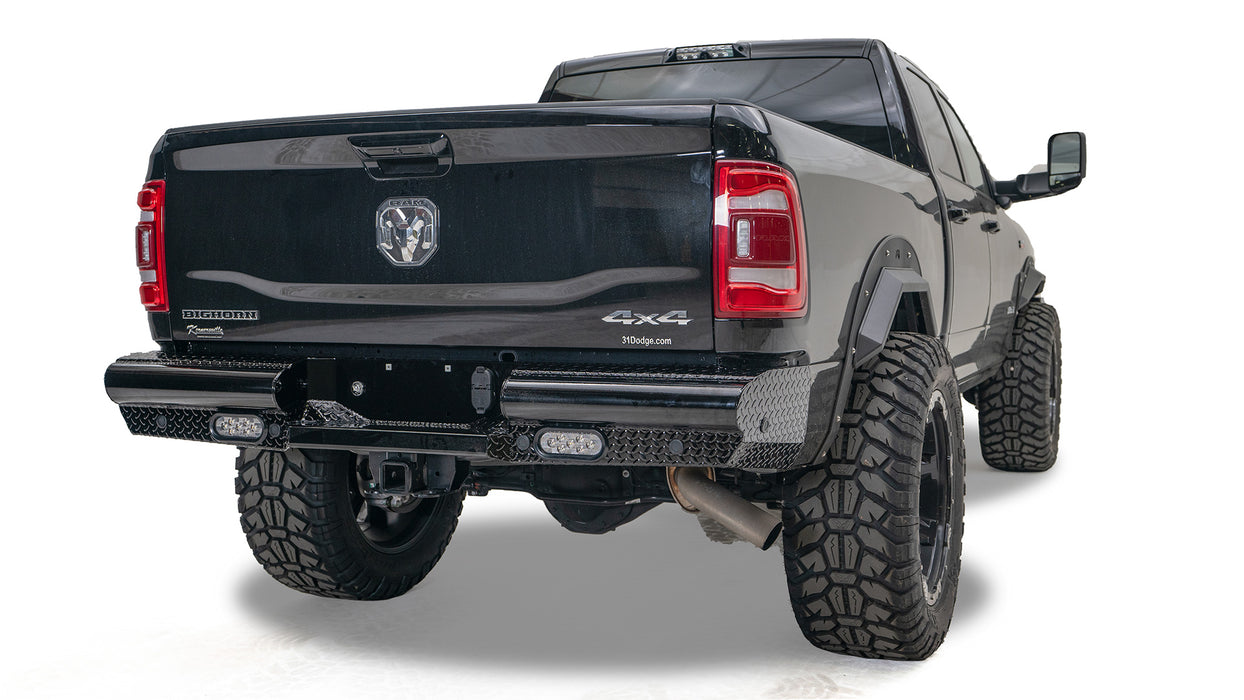 FAB FOURS BLACK STEEL REAR BUMPER