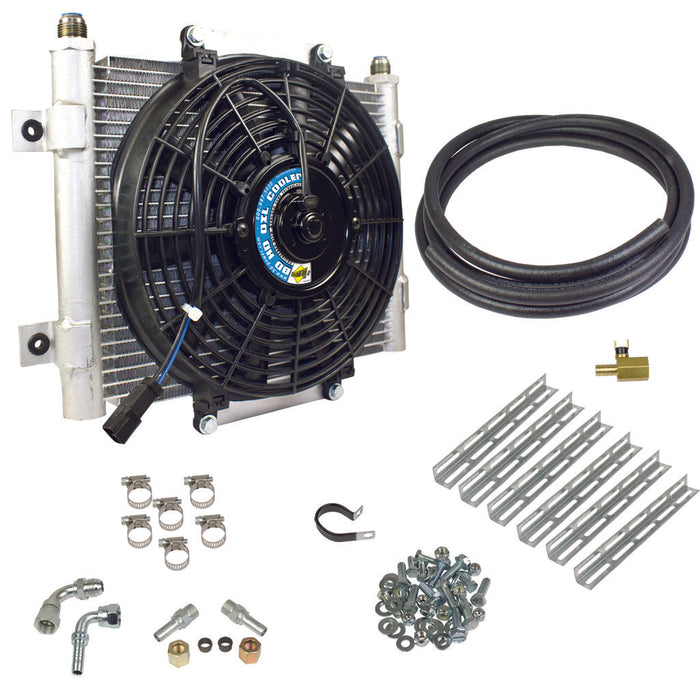 BD Diesel Xtrude Transmission Cooler with Fan - Complete Kit 1/2in Lines - Northwest Diesel
