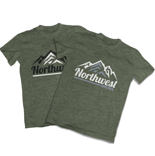 Northwest Diesel Men's Army Green T-Shirts - Northwest Diesel