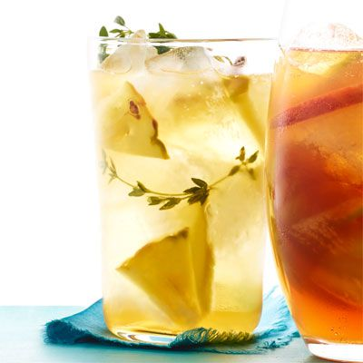 pineapple and thyme iced tea