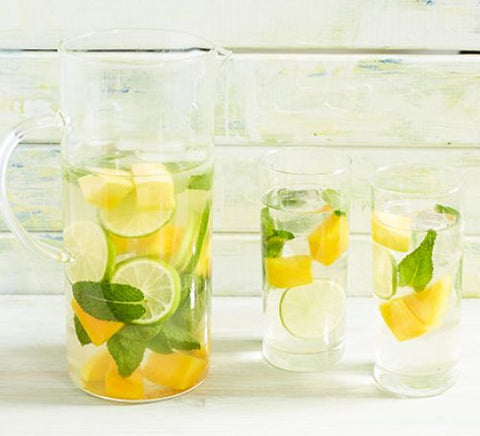 Mint & mango iced tea