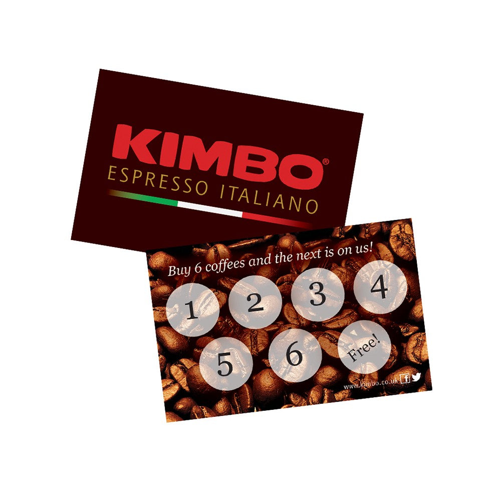 Kimbo Coffee Loyalty Cards